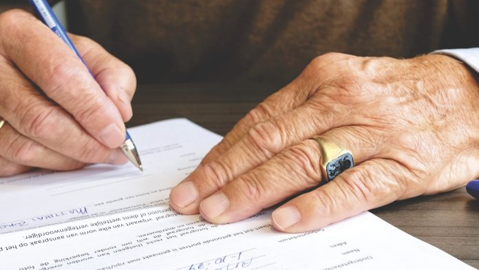 podpis dokumentów