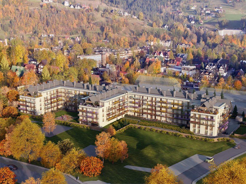 Apartamenty Zakopianskie wizualizacja jesien 1024x768 - Zainwestuj w Zakopane – nieruchomości wakacyjne coraz bardziej popularne