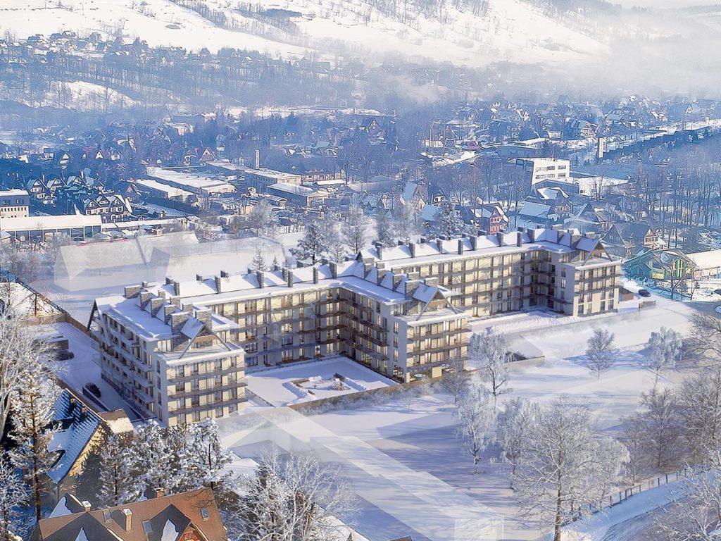 Apartamenty Zakopianskie wizualizacja zima1 1024x768 - Zainwestuj w Zakopane – nieruchomości wakacyjne coraz bardziej popularne