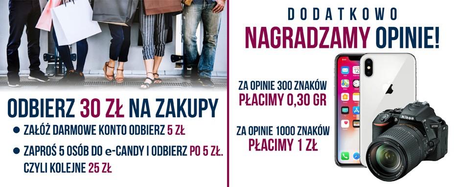 e candy.pl 30zł na zakupy - Czy kupowanie przez internet po prawdziwych zniżkach jest możliwe ?